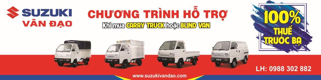 Ho tro thue truoc ba xe tai suzuki truck blind van