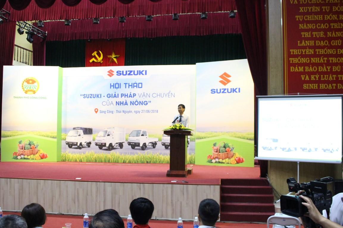 Ông Nguyễn Đức Thịnh - Giám Đốc Chi Nhánh Suzuki Vân Đạo phát biểu