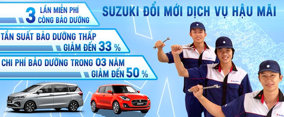 Chính sách dịch vụ ô tô Suzuki mới 2020