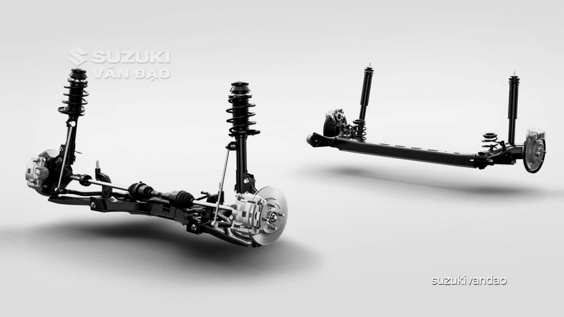 Hệ thống treo suzuki swift mới