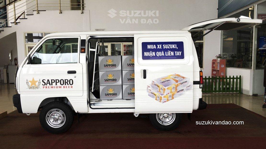 Mua xe tải Suzuki Blind Van tặng bia sapporo