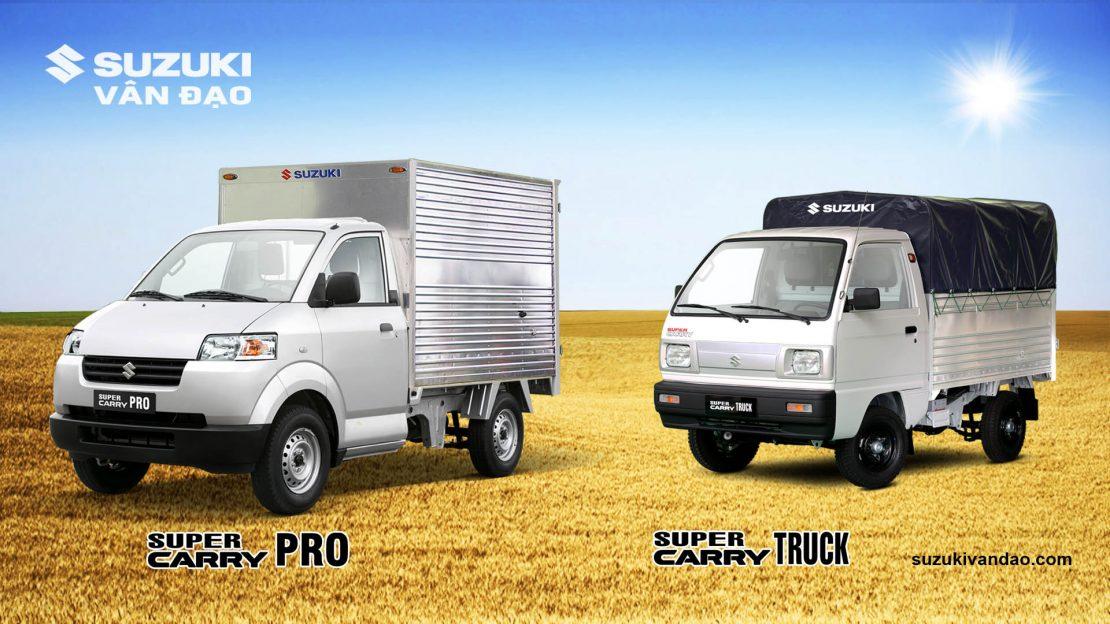 hai dòng xe Truck 5 tạ & Pro 7 tạ của Suzuki
